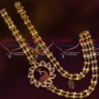 Double Chain 24Inches Rettai Vadam Mugappu Gold Plated South Indian Jewellery Online