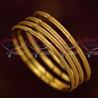 Thin 4 Pieces Set Gold Plated Kids Jewellery Daily Wear Bangles Shop Online
