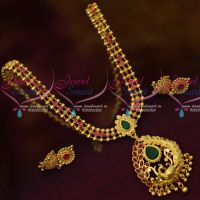South Indian Daily Wear Gold Covering Short Necklace Latest Imitation Designs Online