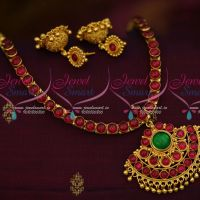 South Indian Handmade Gold Plated Jewellery Traditional Covering Attiga Set