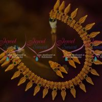 South Indian Designer Jewelry Matte Gold Plated Antique Latest Fashion Online