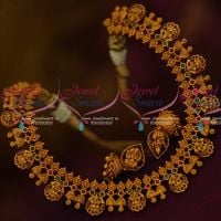Real Look Temple Coin Bell Design Jewelry Small Jhumka Latest Traditional Set Online