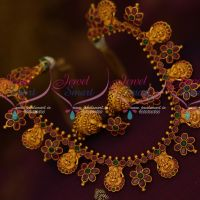 Temple Jewelry Nagas God Design Ruby Emerald Floral Jhumka Real Look Necklace Online