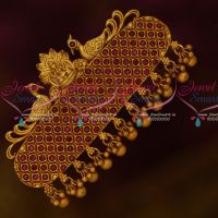 Matte Antique Jewelry Matching Temple Ruby Hair Clip Latest Designs Online