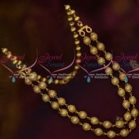 Netted 2 Line Strand Pearl Mala Beads Back Chain Latest Fashion Jewelry Online