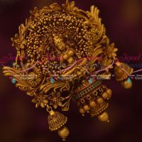 Temple Matte Reddish Plated Jada Billa U Pin Rakodi Matching Bridal Accessory Online Big Size Heavy