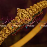 South Indian Bridal Jewellry Temple Vaddanam Double Layer Bead Drops Gold Design Latest