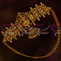 Temple Chain Vanki Latest Bridal Jewelry Designs Matching Matte Finish Gold Accessory Online