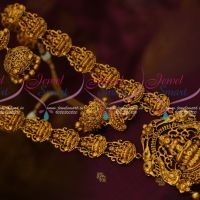South Indian Traditional Bridal Temple Haram Antique Reddish Jewellery Designs Online