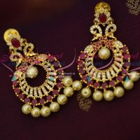 Trendy Peacock Earrings Pearl Drops Gold Design Lates Artificial Jewellery Online