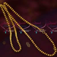 Hollow Light Weight Fancy Copper Gold Covering Chain South Indian Jewelry Online