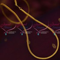 3 MM Square Chain Daily Use Imitation Jewelry Gold Design Shop Online