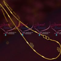 Thin Double Design Fancy Daily Wear Chains Gold Design Artificial Jewelry Online