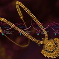 Ruby Emerald South Indian Gold Covering Haram Daily Wear Collections Online