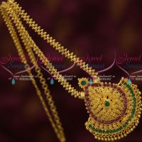 South Indian Casual Wear Low Price Chain Pendant Gold Plated Jewellery Designs Online
