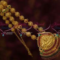 Gold Plated Jewelry Handmade Beads Mala Temple Nagas Pendant Crystal Drops