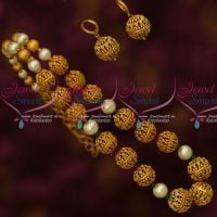 Low Price Uneven Matte Gold Tone Latest Beaded Fashion Jewellery Designs Shop Online
