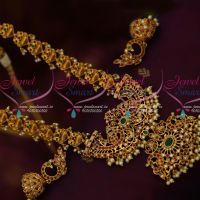 Traditional Gold Design American Diamond Haram Matte Finish Real Look Jewellery Shop Online