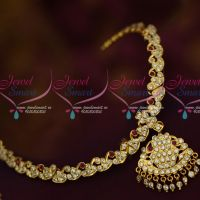 Thick Metal Copper Handmade Getti Item Gold Plated Attigai AD Jewellery South Indian