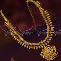 Simple Design Low Price South Indian Gold Covering Jewellery Daily Wear Imitation
