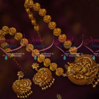 Relaxing Vinayagar Design Haram Matte Gold Plated Real Look Jewellery Traditional Collections Online