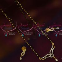 Black Beads Mala Single Line Short Mangalsutra Traditional Indian Jewelry Online