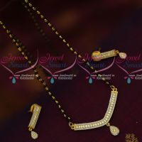 Black Beads Karumani Mala Single Line Short Mangalsutra Traditional Indian Jewelry Online