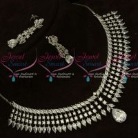 First Quality American Diamond Stones Silver Plated Fashion Jewellery