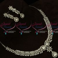 Full White Silver Plated Fashion Jewellery Latest CZ Stone Designs Online
