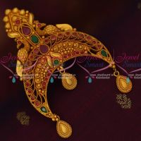 Red Green Stones Matte Gold Reddish Plated Rakodi Bridal Hair Decoration Jewellery Online