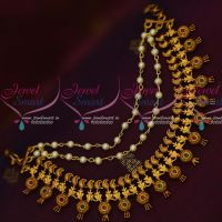 Intricately Designed Mango Ear Chain Pearl 3 Layer Design Latest Jewellery Accessory Online
