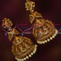 Big Size Peacock Intricately Designed Traditional Jhumka Antique Matte Finish Jewelry Online