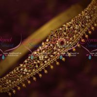 Semi Precious Stones Bridal Oddiyanam 44 Inches Size Latest South Indian Jewelry Online