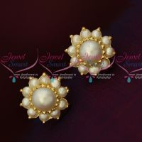AD Fresh Water High Quality Pearls Small Size Traditonal Earrings Shop Online