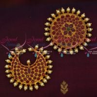 Ruby Emerald Sun Moon Sooriyan Chandran Indian Traditional Dance Bharathanatiyam Jewellery Hair Decoration