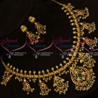 Gold Plated One Gram Jewellery Gutta Pusalu Necklace Pearl Collections Online
