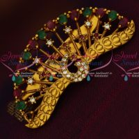 Antique Matte AD Stones Peacock Design Saree Brooches Shop Online