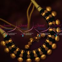 Black Color SilkThread Fashion Jewellery Antique Reddish Pendant Designed Collections