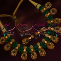 Greeen Thread Dhaga Necklace Antique Gold Plated Trendy Fancy Jewellery Collections Online