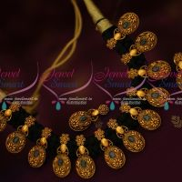 Black Dori Dhaga Necklace Antique Gold Plated Trendy Fancy Jewellery Collections Online