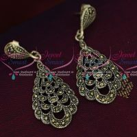 92.5 Silver Jewellery Hangings Model Oxidised Finish Earrings Online