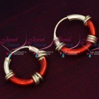 92.5 Silver Jewellery Small Bali Hook Red Earrings Kids Daily Wear Jewelry Online