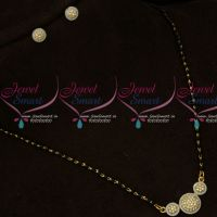 Black Beads Short Mangalsutra AD 2 Tone Gold Silver Plated Jewellery Online