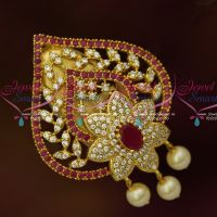 Heart Shape AD Jewelry Saree Pins Matching Accessory Online