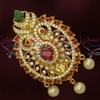 Multi Colour AD Jewellery Matching Saree Pins Brooches Online