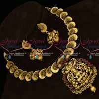 Temple Nagas Antique Jewellery Kemp Short Necklace Gold Models Online