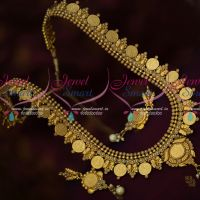Coin Temple Haram Kasulaperu Pearl Antique Jewellery Traditional Collections Online