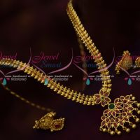 South Indian Attiga Style Chain Pendant Jhumka Gold Plated Jewellery Collections