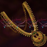 South Indian Imitation Gold Covering Jewellery Short Necklace Casual Wear
