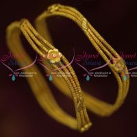 Floral Curve Design Gold Inspired Bangle Designs Latest Imitation Jewelry Online